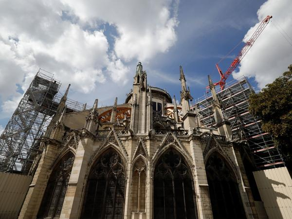Restoration work resumed Monday on the fire-damaged Notre Dame Cathedral in Paris after a lead contamination scare.