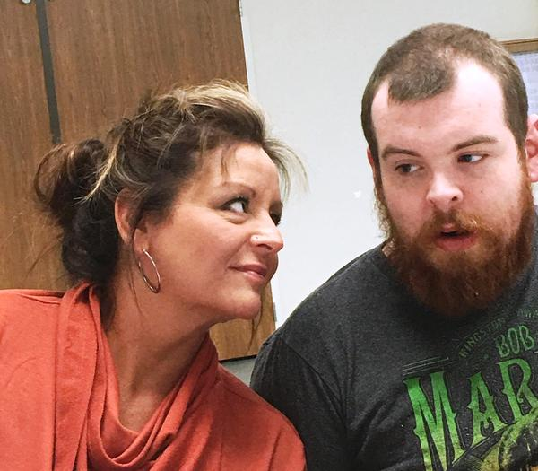 Tammie Corter and her son Tyler Groseclose who is severely autistic and non-verbal and a client of Aacres Washington in Spokane.