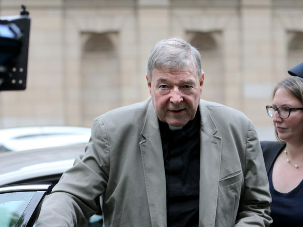 Cardinal George Pell arrives at the Victorian County Court in  Melbourne, Victoria, in February. Pell's appeal of verdicts on sexual abuse charges was rejected on Wednesday.