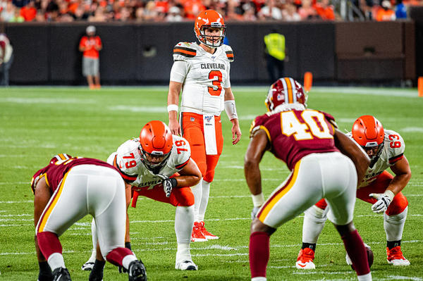Browns third string quarterback Garrett Gilbert got lots of playing time during the first two preseason games