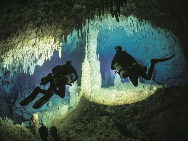"Jill Heinerth says Dan's Cave on Abaco Island, Bahamas, is her ""favorite cave on Earth."""