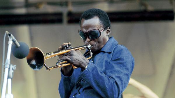 Miles Davis performing at Newport Jazz Festival in 1969.