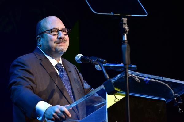 2018 Civilian Leadership Honoree, Founder of craigslist Craig Newmark speaks on stage during IAVA 12th Annual Heroes Gala at the Classic Car Club Manhattan.  (Photo by Eugene Gologursky/Getty Images for Iraq and Afghanistan Veterans of America )