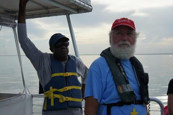 Army veteran Don Bickham and Navy veteran J.P. White.