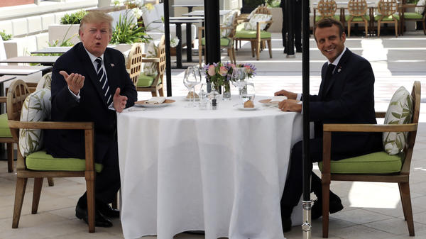 U.S. President Trump has lunch with French President Emmanuel Macron in Biarritz, France. Leaders of some of the world's major economies have arrived in the country for the Group of Seven summit.