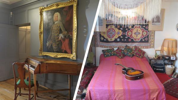 A look inside George Frideric Handel flat at 25 Brook Street (left), and Jimi Hendrix's at 23 Brook Street (right)