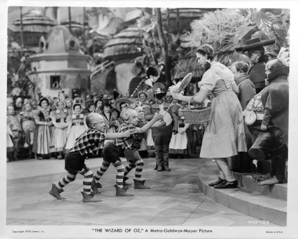Dorothy meets 'The Lollipop Guild' in The Wizard of Oz.