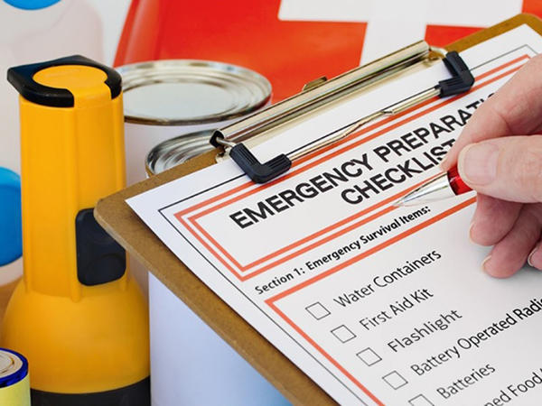 The Florida Department of Health recommends that hurricane emergency supply kits contain items from six areas: water; food; first aid and medications; clothing and bedding; tools and emergency supplies; and familiy documents.