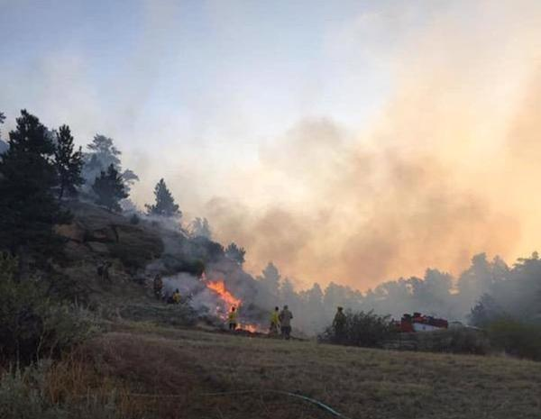 A photo posted to the Yellowstone County Sheriff's Office Facebook account shows the Mountain View Fire near Buffalo Trail Road August 29.