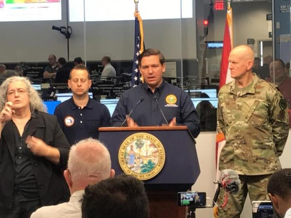 Gov. Ron DeSantis is urging Florida residents to prepare for Hurricane Dorian. NEWS SERVICE OF FLORIDA