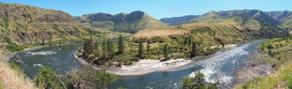<p>Cooper's Ferry sits on the Salmon River in Idaho, near where it meets the Snake River. People occupied the area for thousands of years.</p>