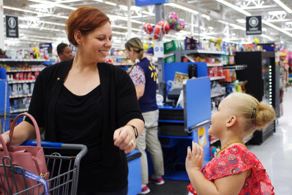 Andrea Conyers and her daughter Aviana, 7, went back-to-school shopping in Hinesville, Ga., earlier this month.