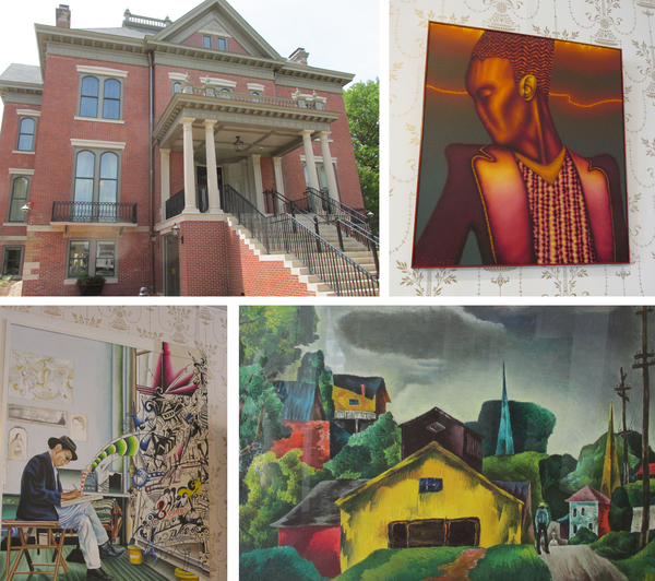 Newly renovated mansion + artwork on display (descriptions & more artwork in slide show.)