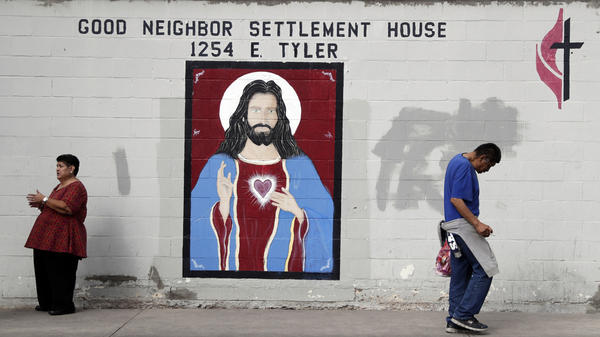 Good Neighbor Settlement House in Brownsville, Texas, is helping recently released migrants by offering them a meal, shower and some new clothes before journeying up north to await their day in immigration court.
