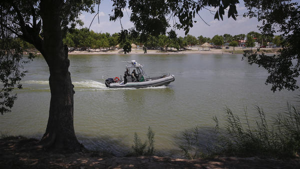 U.S. Border Patrol agents found four bodies near the Rio Grande river along Anzalduas Park, close to McAllen, Texas. In this file photo, a Border Patrol boat is seen on the river along Anzalduas Park.