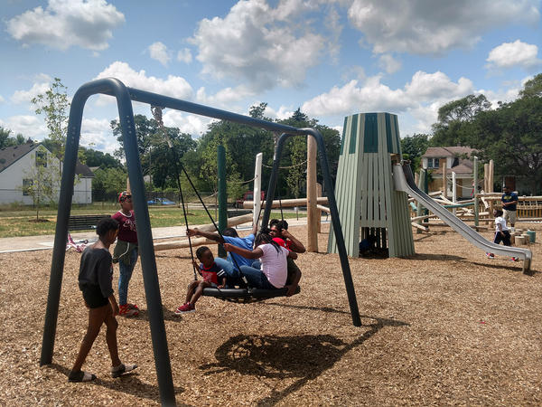 """Detroit's Ella Fitgerald Park was recently revamped as a part of the city's project """"reimagining the civic commons."""""""