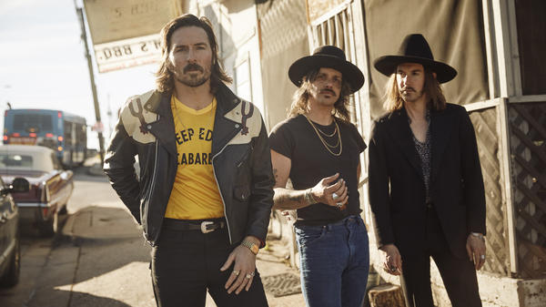 """Cameron Duddy (center) says that Midland's new album combines """"the powers of the three voices coming together."""""""