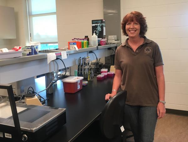 Kim Frazier, director of the Wyoming Game and Fish Forensics Laboratory.