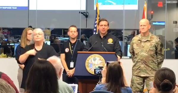 Gov. Ron DeSantis warned a bump one way or the other could still seriously impact Florida. GOV. DESANTIS/FACEBOOK