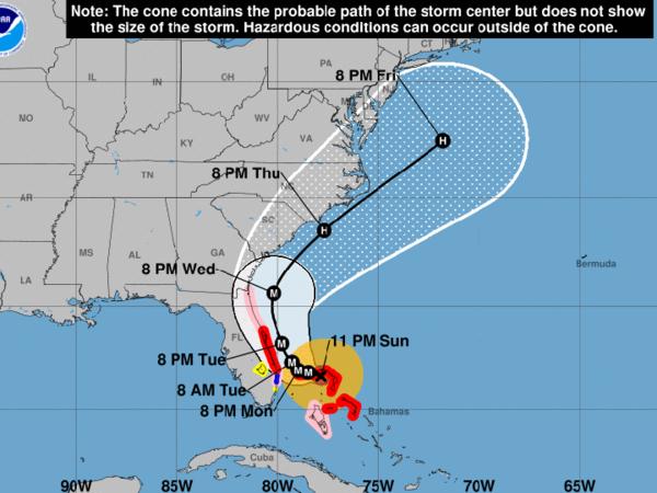 Historic Dorian, Pounds Bahamas As It Churns Toward Florida