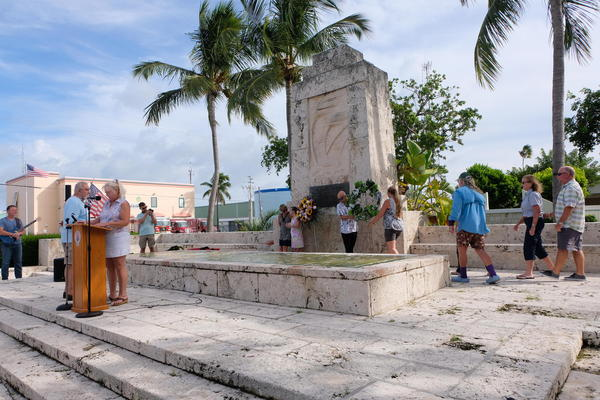 Islamorada honors those who died in the 1935 Labor Day hurricane every year. With Dorian off the Florida coast, this year's ceremony was especially poignant. NANCY KLINGENER / WLRN