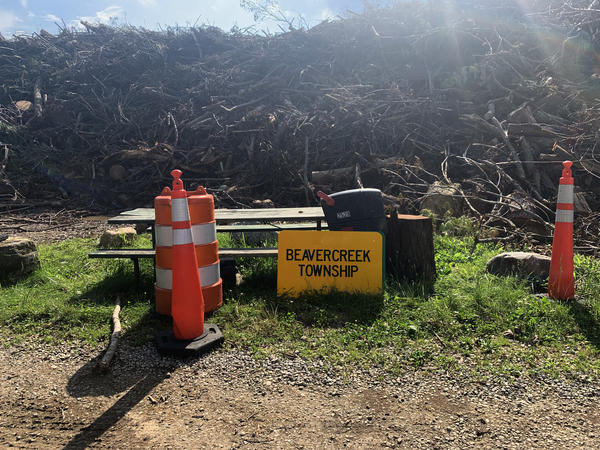Greene County has been storing organic tornado debris at Cemex Reserve in Fairborn since the May storm.