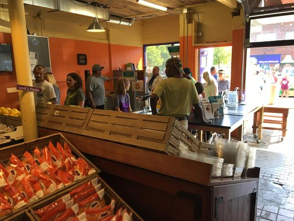 Inside the All People's Market, customers can choose fresh fruits and vegetables, which allows them to use SNAP benefits at grocery stores.