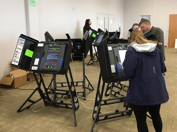 Voters cast their ballot early at the Franklin County Board of Elections last November.