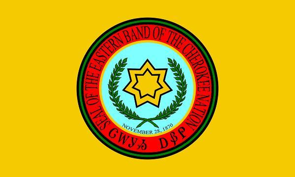 The Eastern Band of The Cherokee Nation flag.