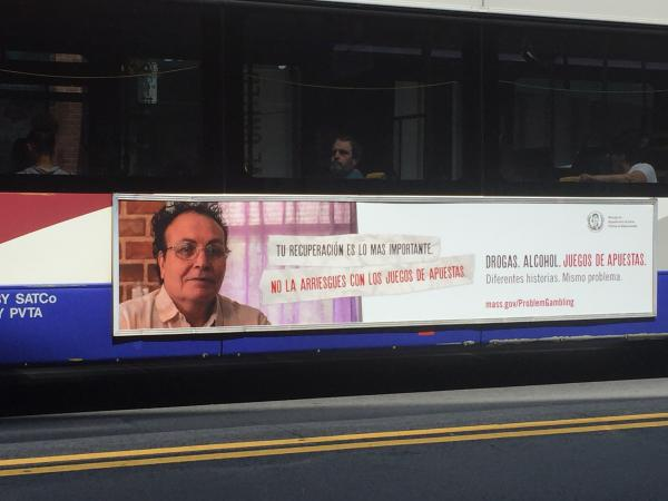The Massachusetts Department of Public Health has placed ads about problem gambling on buses and social media.
