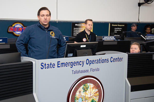 Gov. Ron DeSantis said the state awaits aid requests from South Carolina and North Carolina and is offering help, where it can, to the Bahamas, as some islands were leveled in what was a Category 5 storm. GOVERNOR'S PRESS OFFICE