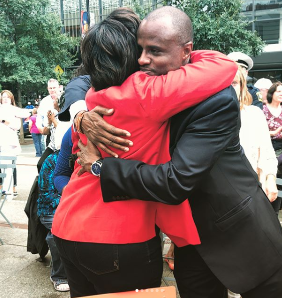 The Friday after the shooting, people gathered at Fountain Square outside of Fifth Third Center to remember the victims.