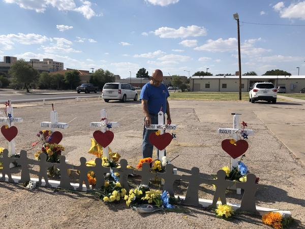 Eddie Pesquale visited a memorial of victims in Odessa.