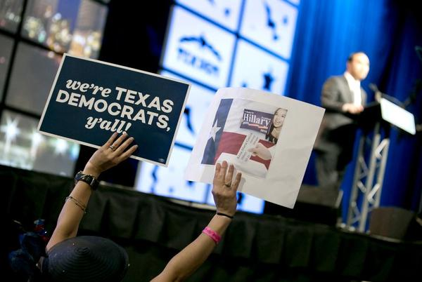 Texas Democratic Convention at the Alamodome on June 17, 2016.