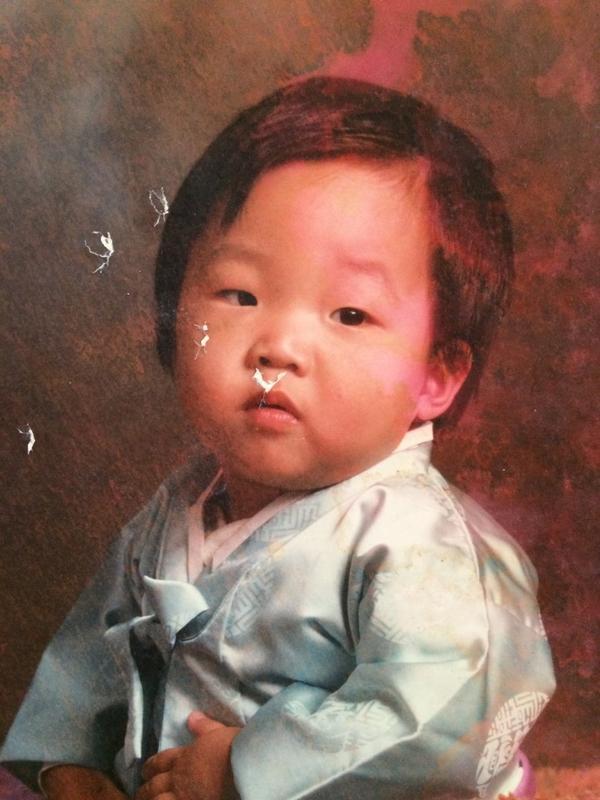 Yoo as a baby.