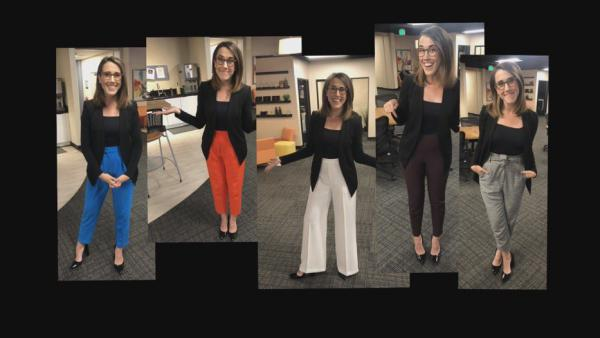 Maggie Vespa's High-Waisted Pants Photo Compilation