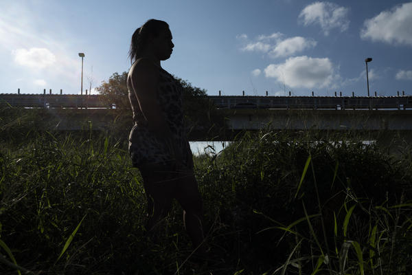 A Salvadoran transgender woman seeking asylum in the U.S.