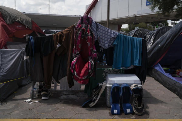 Asylum seekers' clothes.