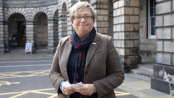 Member of Parliament Joanna Cherry and dozens of allies won a decision from Scotland's Court of Session, which ruled that Prime Minister Boris Johnson's suspension of Parliament is illegal. Cherry is seen here outside the court last month.