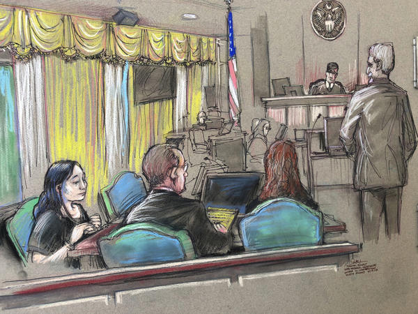 Yujing Zhang, pictured left in the court sketch, maintained that she was visiting Mar-a-Lago to attend an event promoting China-U.S. relations.
