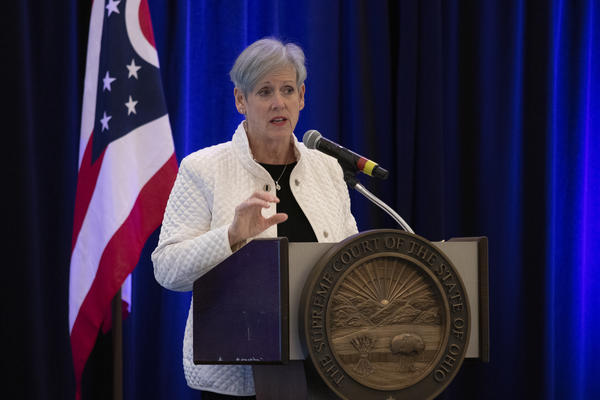 Chief Justice Maureen O'Connor delivered her State of the Judiciary at the Hilton at Easton.