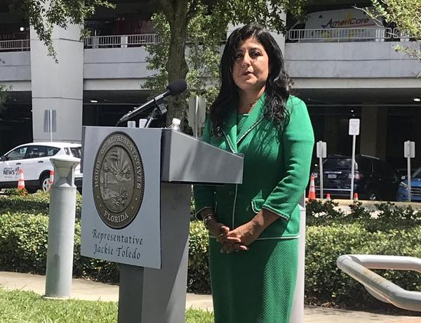 Rep. Jackie Toledo, R-Tampa, announced she is filing a bill that would raise the minimum age  to purchase vaping and tobacco products to 21.