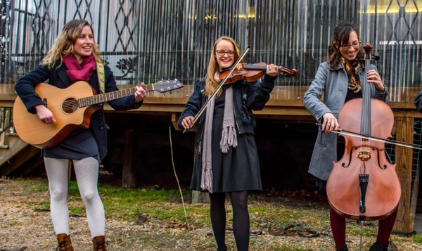 Honey Magpie is a folk trio based in Chapel Hill. From left: Rachael Hurwitz, Kati Moore, and Pippa Hoover.