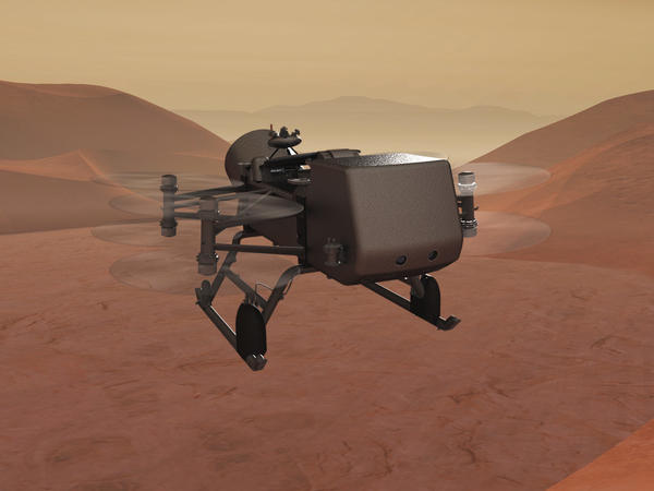 NASA's Dragonfly mission will hop across Saturn's moon Titan, taking samples and photos.