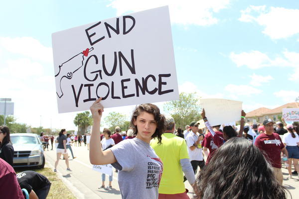The March For Our Lives protest in Parkland, Florida, on March 24, 2018.