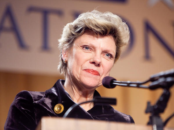 Cokie Roberts appears at the National Press Foundation's 26th annual awards dinner on February 10, 2009 in Washington, DC.