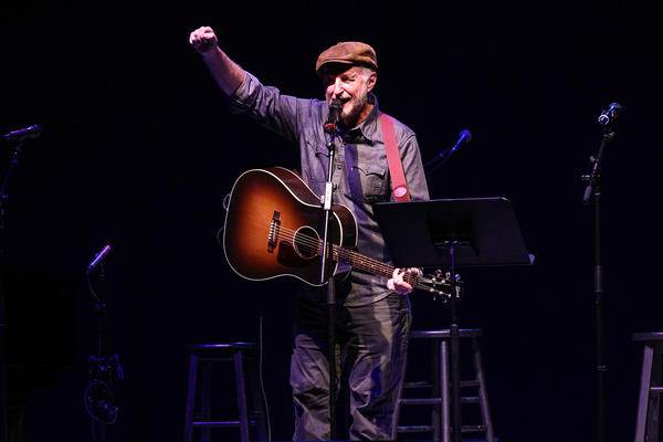 Singer-songwriter Billy Bragg performs during 'The People Sing' at War Memorial Auditorium in Nashville, Tennessee.  (Photo by Terry Wyatt/Getty Images for Americana Music)