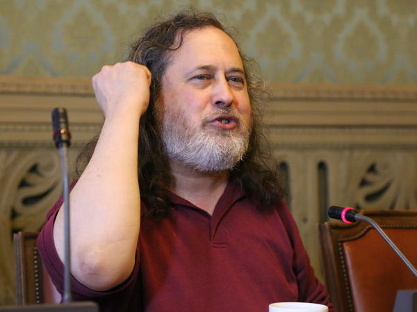 Richard Stallman, pictured in 2015, resigned from his posts as president of the Free Software Foundation and visiting scientist at MIT's Computer Science and Artificial Intelligence Laboratory.