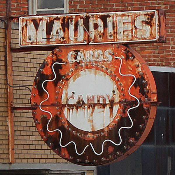 Maurie's Candy Store Sign