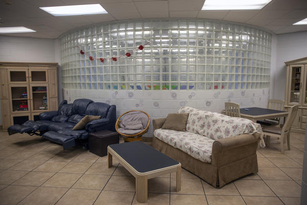 VIP-ER participants have access to common living areas like this one while housed at the Salvation Army.